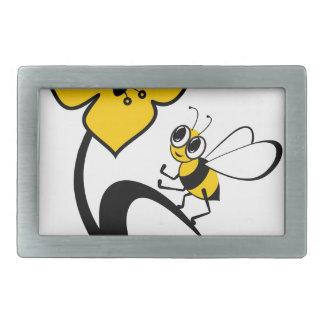 Biene in love2.ai rechteckige gürtelschnalle