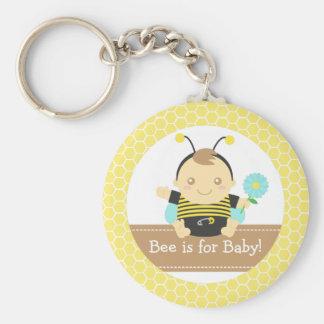Biene ist für Baby, niedlicher Hummel-Bienen-Junge Schlüsselanhänger