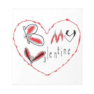 Biene mein Valentinsgruß Notizblock