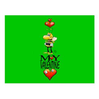Biene mein Valentinsgruß. Postkarte