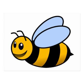 Biene - niedlich postkarte