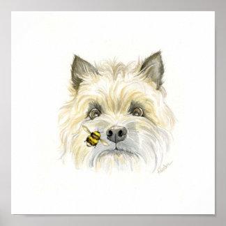Biene-utiful Steinhaufen Terrier Poster