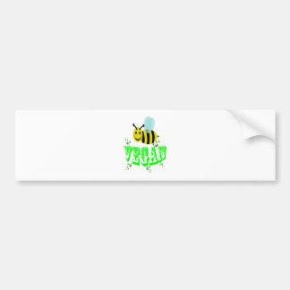 Biene vegan autoaufkleber
