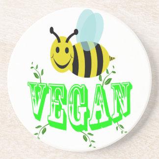 Biene vegan untersetzer