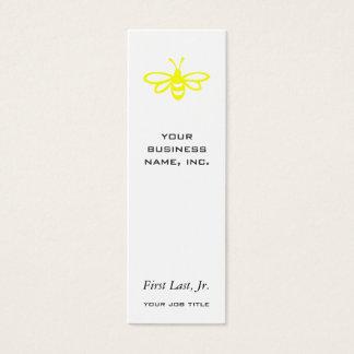 Biene [Zitrone] Mini Visitenkarte