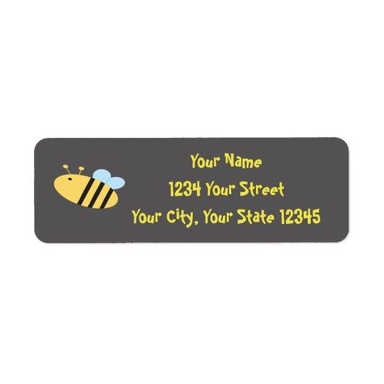 Bienen-Adressen-Etikett Rücksende Aufkleber