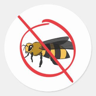 Bienen-Allergie Runder Aufkleber