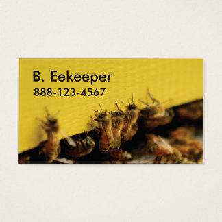 Bienen auf gelbem Bienenstock Visitenkarte