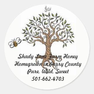 Bienen-Baum-Honig-Aufkleber Runder Aufkleber