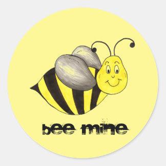 Bienen- (Be)Bergwerk-Valentinstag-Hummel-Aufkleber Runder Aufkleber