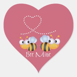 Bienen-Bergwerk-Valentinstag-Aufkleber Herz-Aufkleber