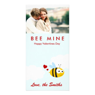 Bienen-Bergwerk - Valentinstag Individuelle Photo Karten