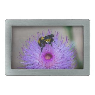 Bienen-bestäubenWildblumen Rechteckige Gürtelschnalle