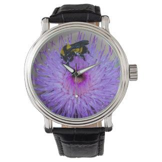 Bienen-bestäubenWildblumen-Uhr Armbanduhr