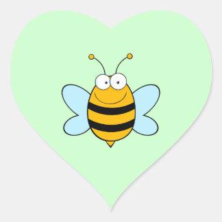 Bienen-Bienen-Wanze hört Insekten-niedliches Herz Sticker