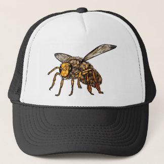 Bienen-Bienenstock in der Biene Truckerkappe