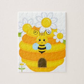 Bienen-Bienenstock Puzzle