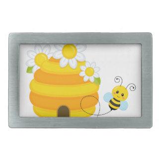 Bienen-Bienenstock Rechteckige Gürtelschnallen