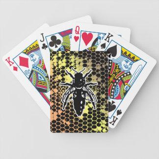 Bienen-Bienenwabe geometrisch Bicycle Spielkarten