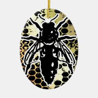 Bienen-Bienenwabe geometrisch Keramik Ornament
