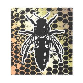 Bienen-Bienenwabe geometrisch Notizblock