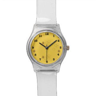 Bienen-Bienenwaben-Druck Armbanduhr