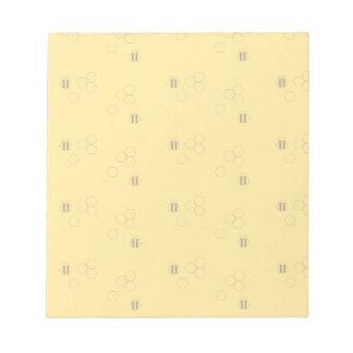 Bienen-Bienenwaben-Muster Notizblock