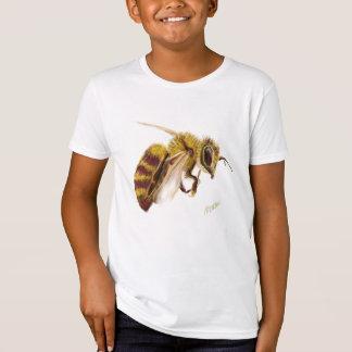 Bienen-Druck auf Bio amerikanischem T-Stück des T-Shirt