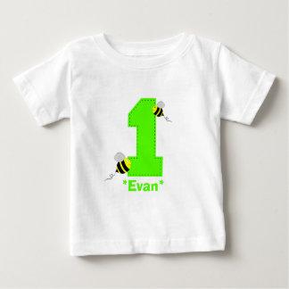 Bienen-erstes Geburtstags-Jungen-Shirt Baby T-shirt