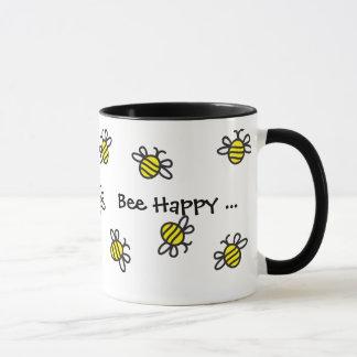 """""""Bienen-glückliche"""" niedliche Hummel-Bienen-Tasse Tasse"""