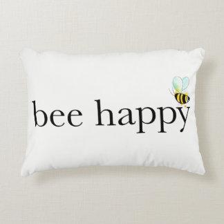 Bienen-glückliches Akzent-Kissen Zierkissen