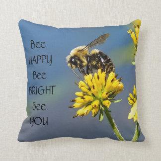 Bienen-glückliches Hummel-Bienethrow-Kissen Kissen