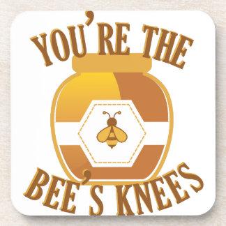 Bienen-Knie Getränkeuntersetzer