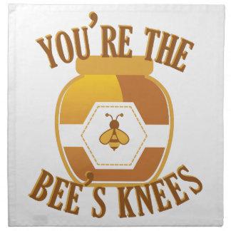 Bienen-Knie Serviette