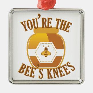 Bienen-Knie Silbernes Ornament