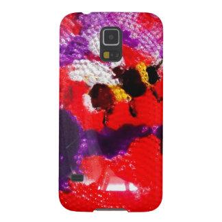 Bienen-Kunst über abstrakter Blume Samsung Galaxy S5 Hülle