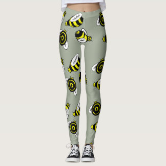BIENEN-MUSTER durch Slipperywindow Leggings