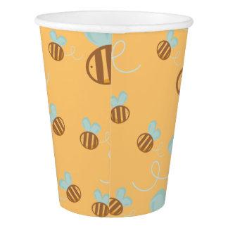 Bienen-Papierschalen-Bienen-Babyparty-Mama zum Pappbecher