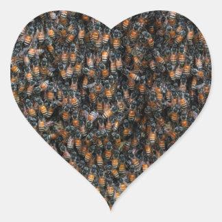 Bienen-schöner Bienenstock Herz-Aufkleber