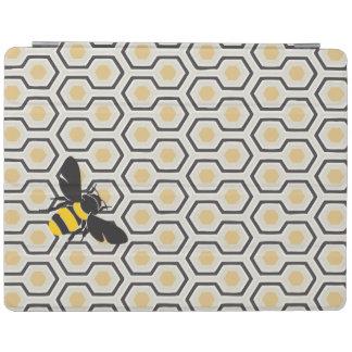 Bienen-und Bienenwaben-Muster iPad Hülle