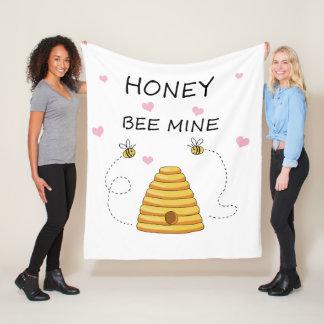 Bienenbergwerk Valentinstag Fleecedecke