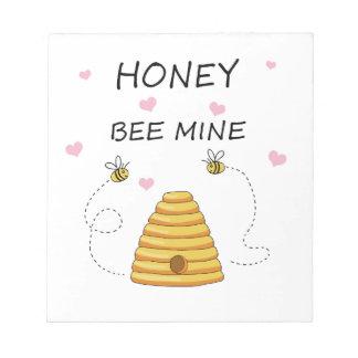 Bienenbergwerk Valentinstag Notizblock