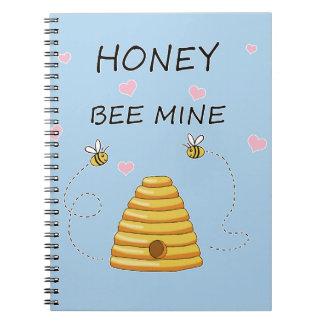 Bienenbergwerk Valentinstag Spiral Notizblock