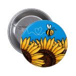 Bienenhintersonnenblumeknopf Buttons