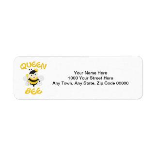 Bienenkönigin Kleiner Adressaufkleber