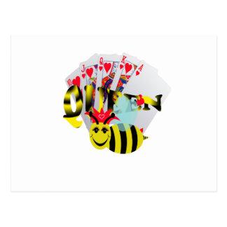 Bienenkönigin-Royal Flush Postkarte