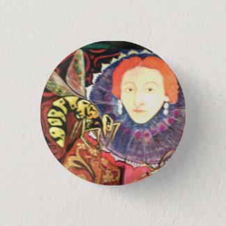 Bienenkönigin Runder Button 3,2 Cm
