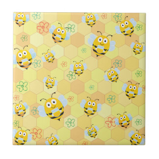 Bienenmuster und -bienenwabe keramikfliese