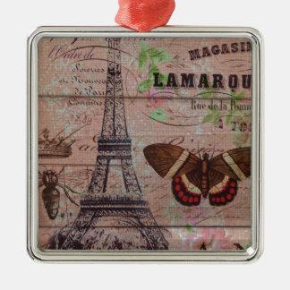 Bienenschmetterling Paris-Eiffelturm der Krone Silbernes Ornament