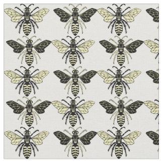 Bienenschwarzes und Goldentwurf auf Gewebe Stoff